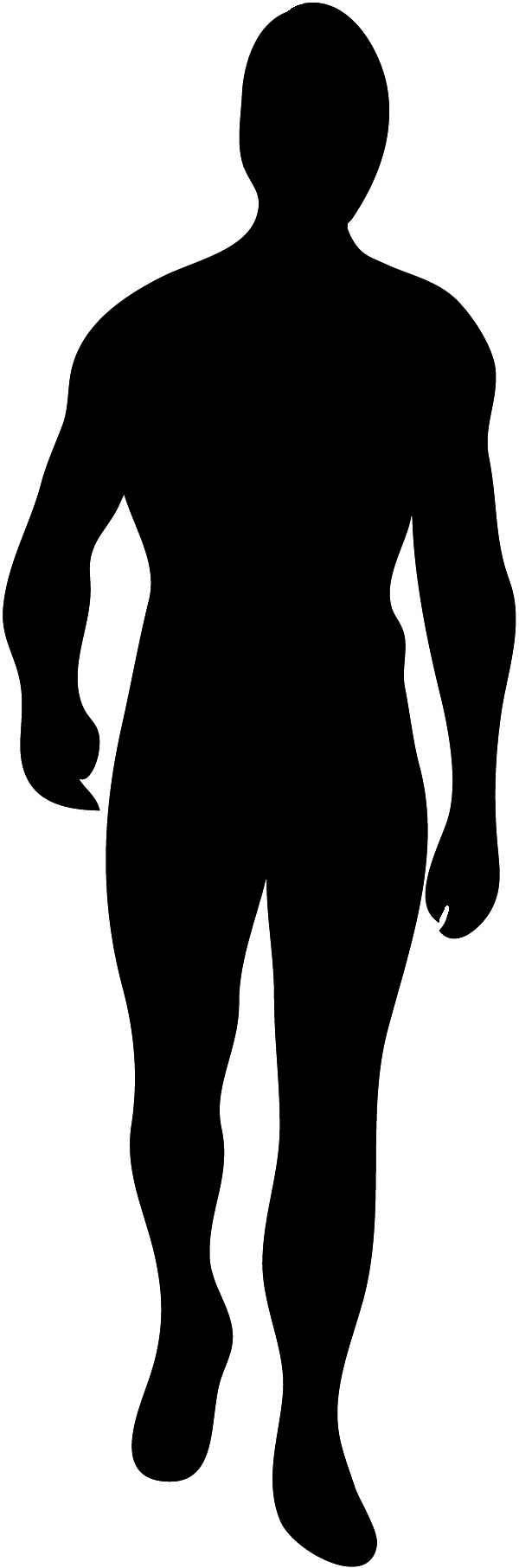600x1813 Male Silhouette Clip Art Clipart