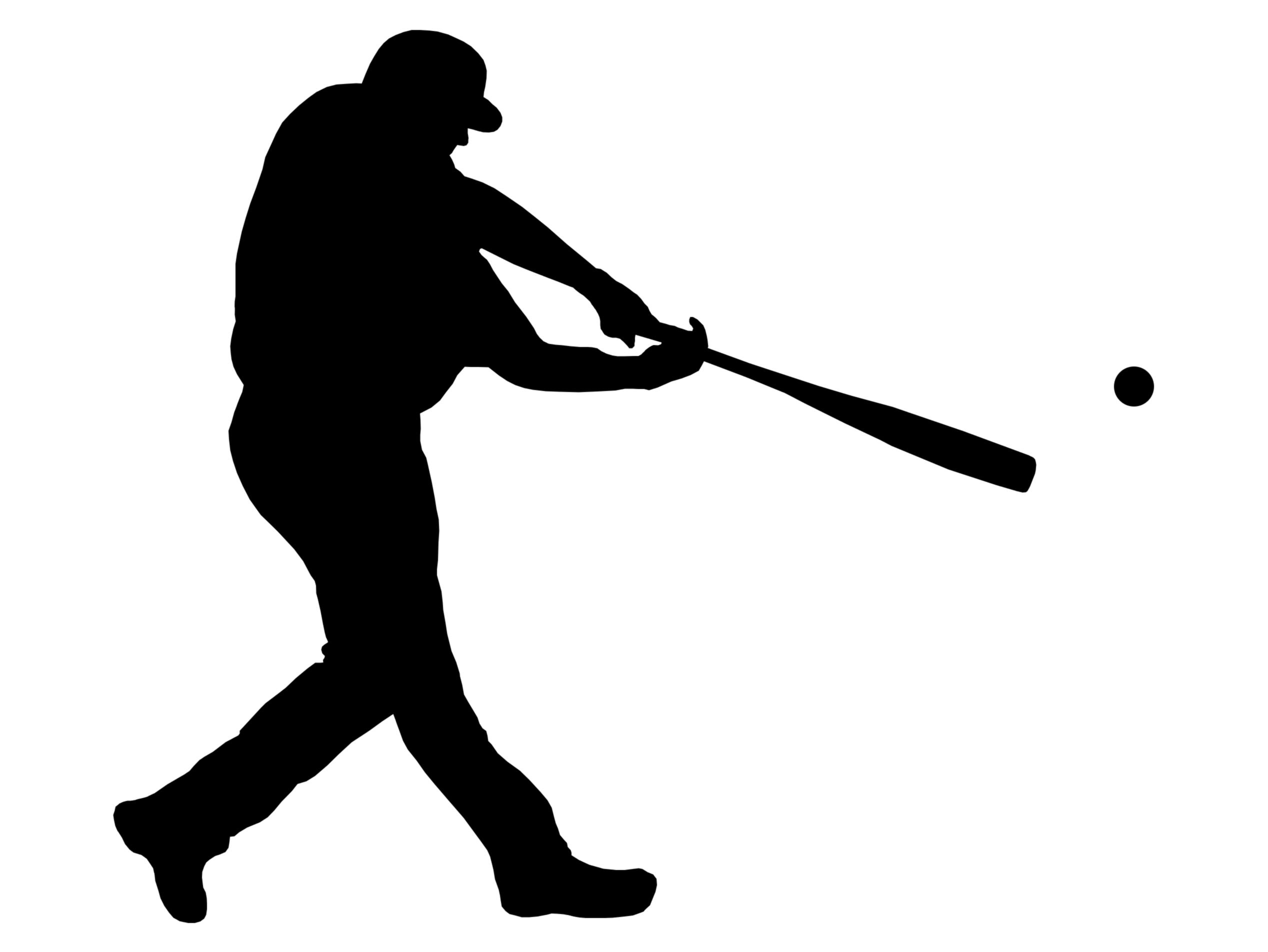 2536x1904 Best Hd Baseball Silhouette Clip Art Vector Library Free Vector