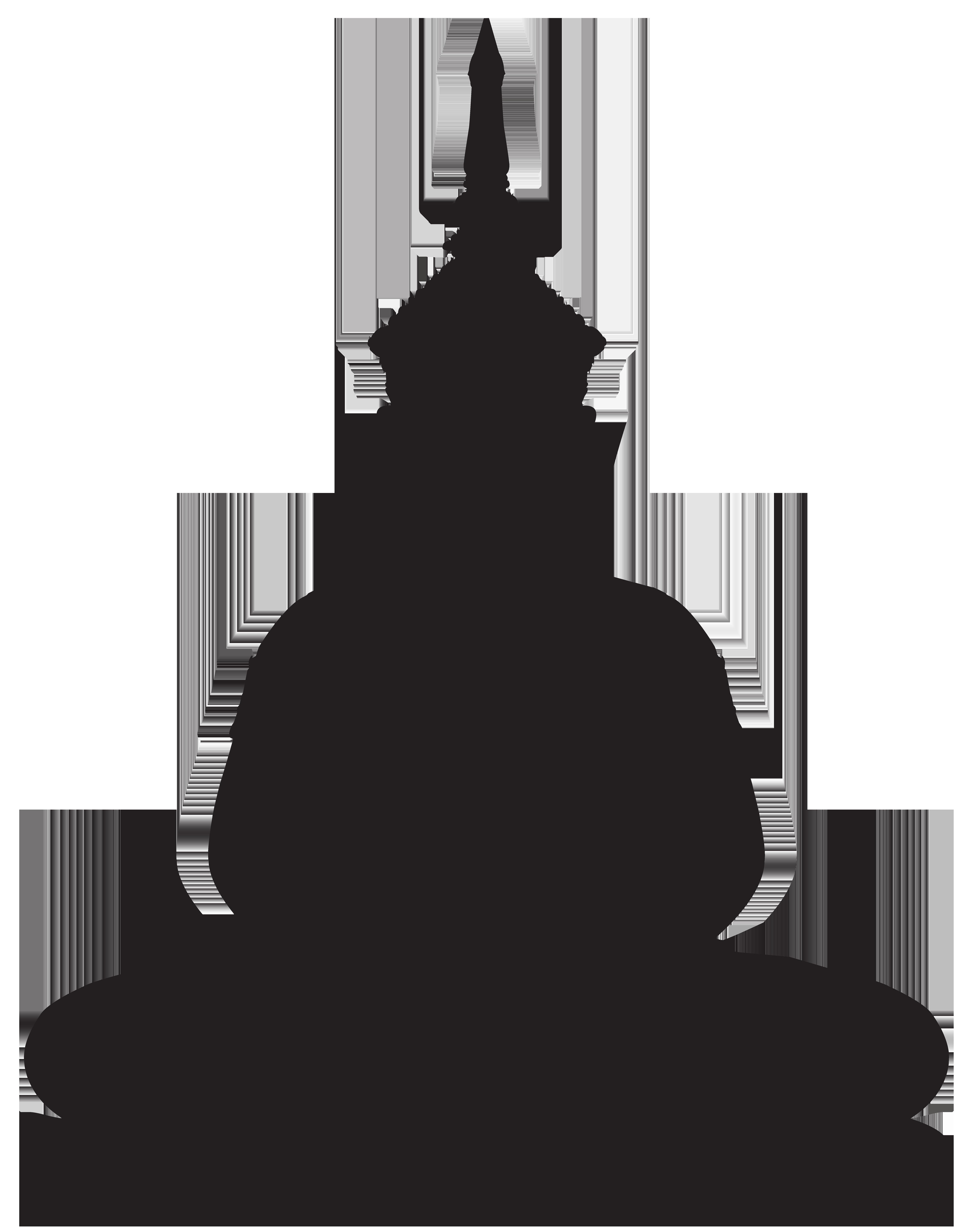 6327x8000 Buddha Statue Silhouette Png Clip Art