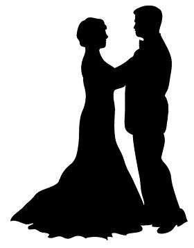 280x357 Silhouette Dancer Clip Art Image