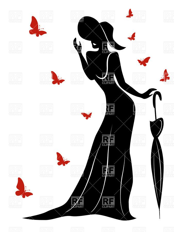 Silhouette Female Body Clipart