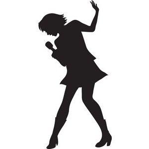 300x300 Singer Silhouette Clip Art