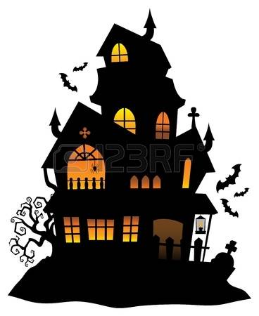 368x450 Haunted House Clipart