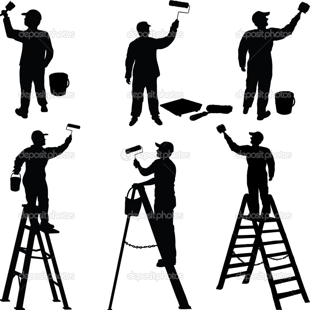 1024x1024 House Painters Clipart