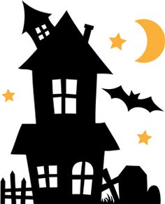236x291 Scary House Silhouette Clip Art Quiet Books Scary