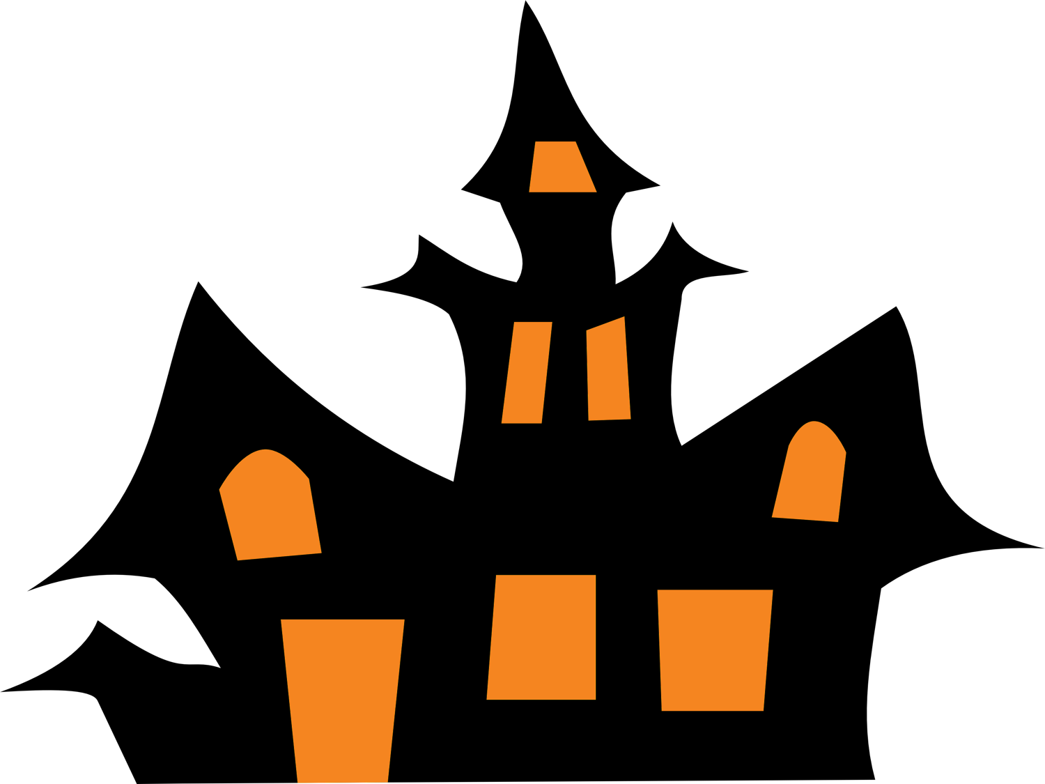 1500x1125 Top 84 Haunted House Clip Art