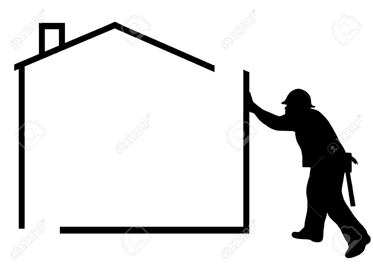 1300x975 White House Clipart Home Construction