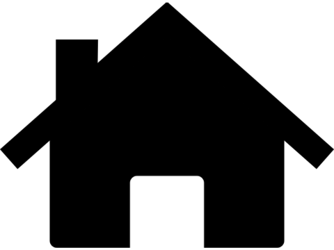 480x360 House Clipart Silhouette
