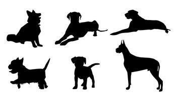 349x200 Dog Silhouettes