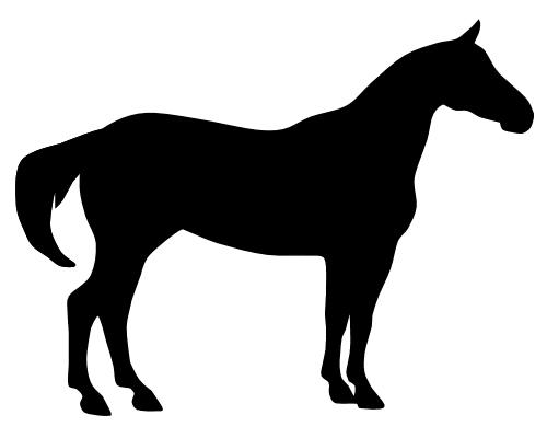 500x400 Horse Silhouette Clip Art