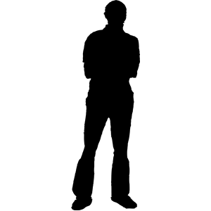 300x300 Male Silhouette Clipart