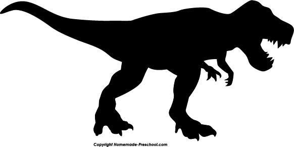 582x291 Tyrannosaurus Rex Silhouette Clipart
