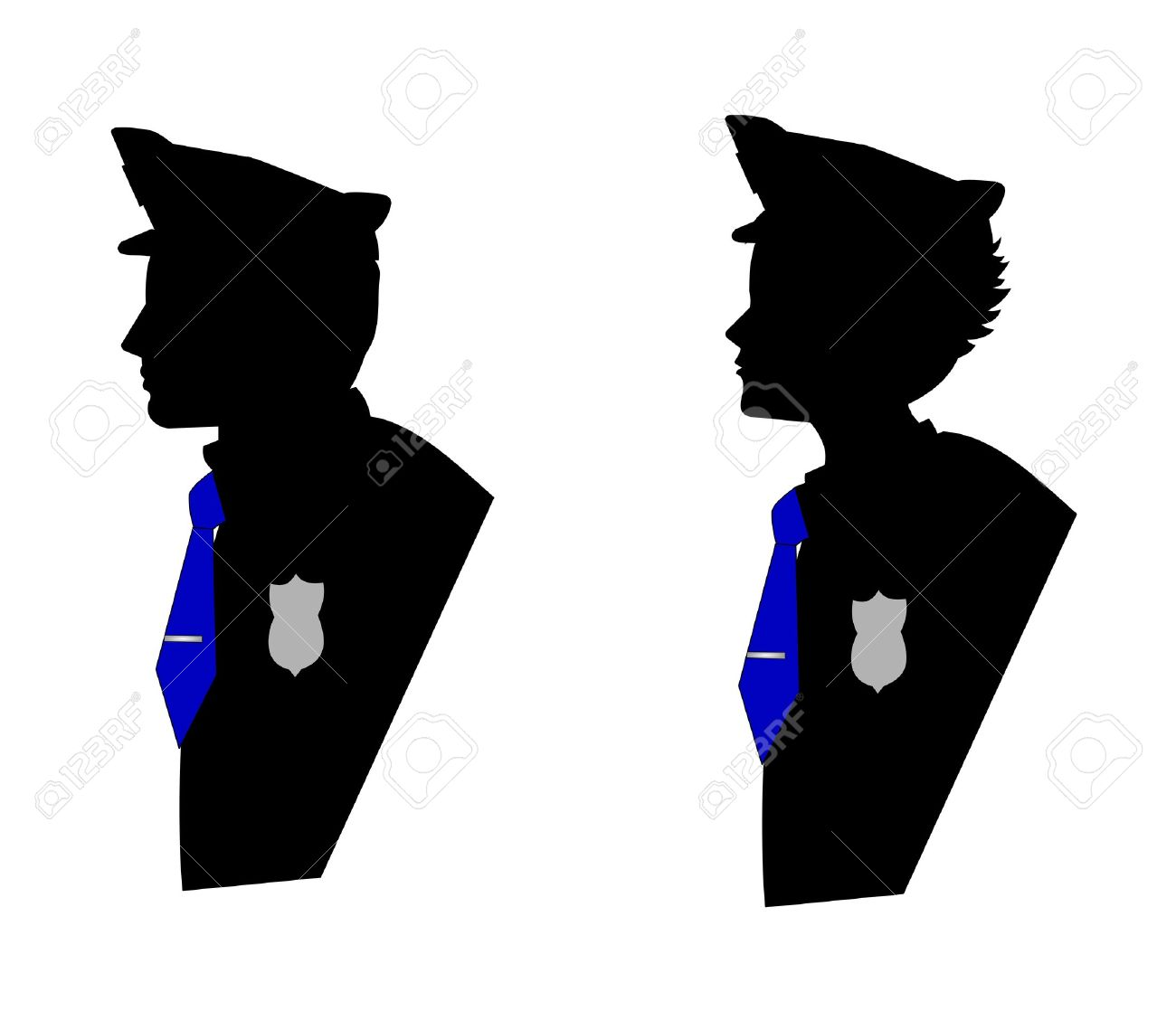 1300x1118 Silhouette Free Clipart Police Officer