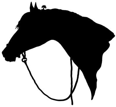 400x368 Horse Head Silhouette Clip Art