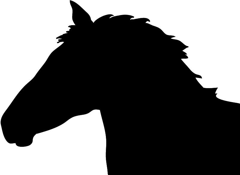 800x584 Horse Head Silhouette Free Clipart