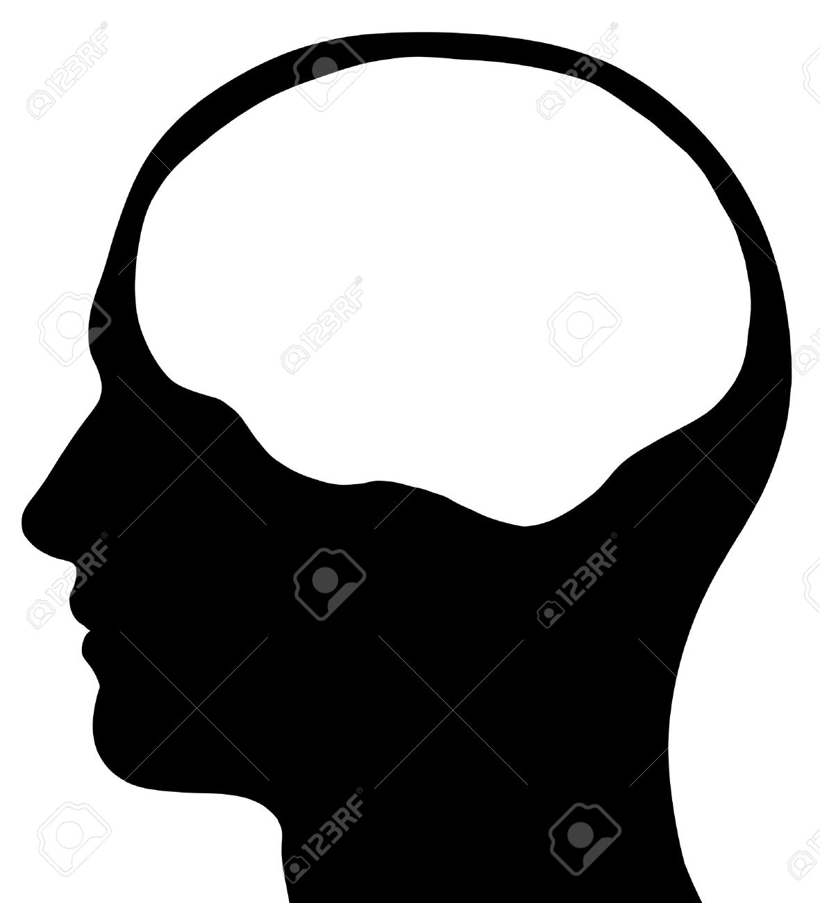 1181x1300 Silhouette Clipart Brain