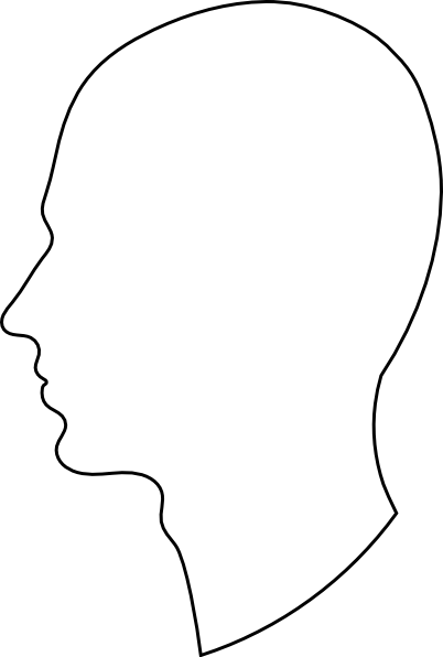 402x596 White Silhouette With Black Outline Clip Art