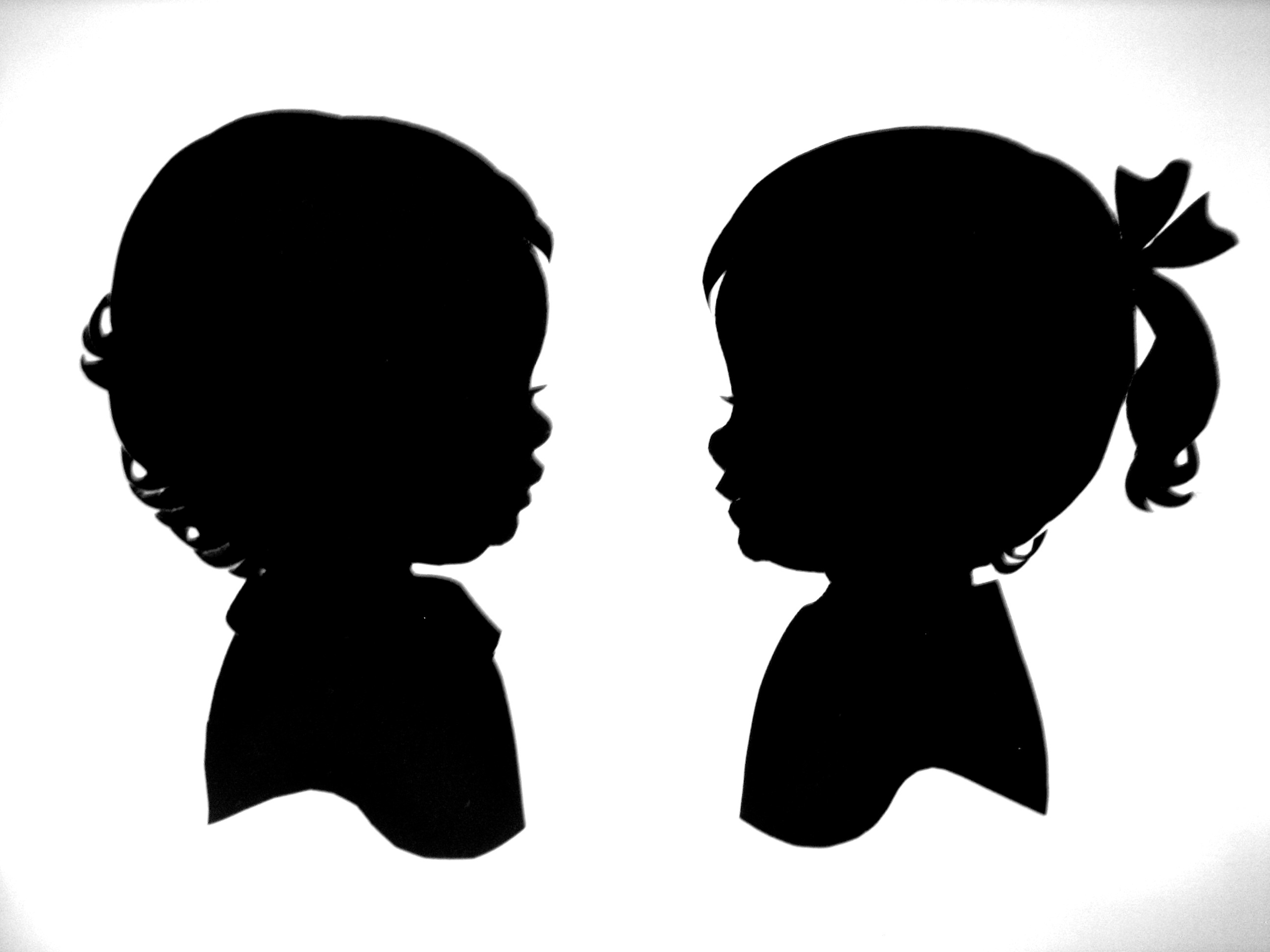 2592x1944 Little Girl Silhouette Head Clipart