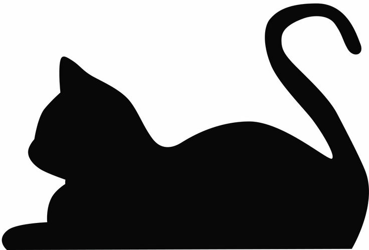 736x499 Black Cat Clipart Cat Head