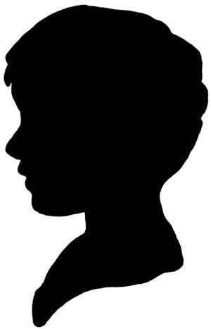 300x467 Boy Head Silhouette Clip Art