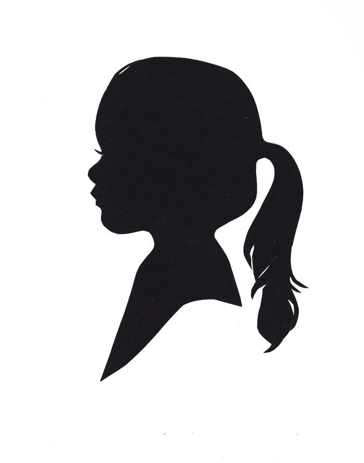 736x935 Little Girl Clipart Silhouette