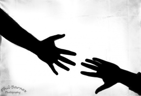 288x196 Clipart Silhouette Arm Reaching Out