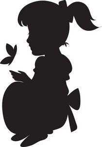 210x300 Little Girl Silhouette Reaching