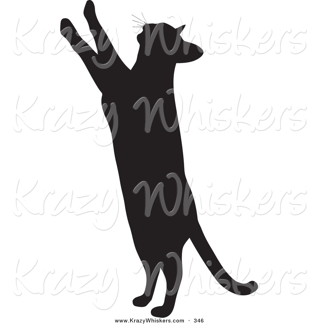 1024x1044 Critter Clipart Of A Curious Kitty Cat Silhouetted In Black