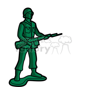 300x300 Royalty Free Green Toy Infantry Soldier Illustration Graphic