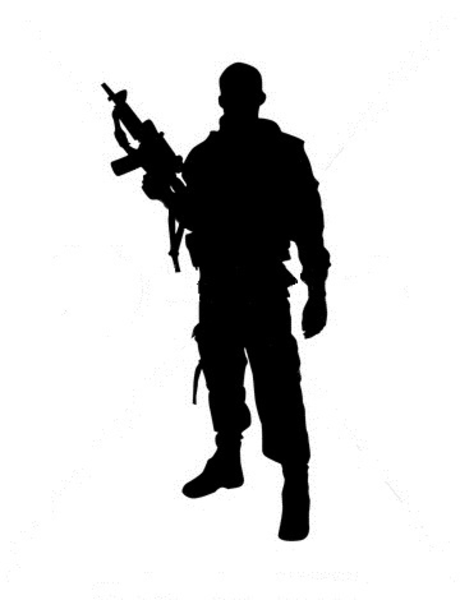 460x600 Silhouette Of Soldier Free Images