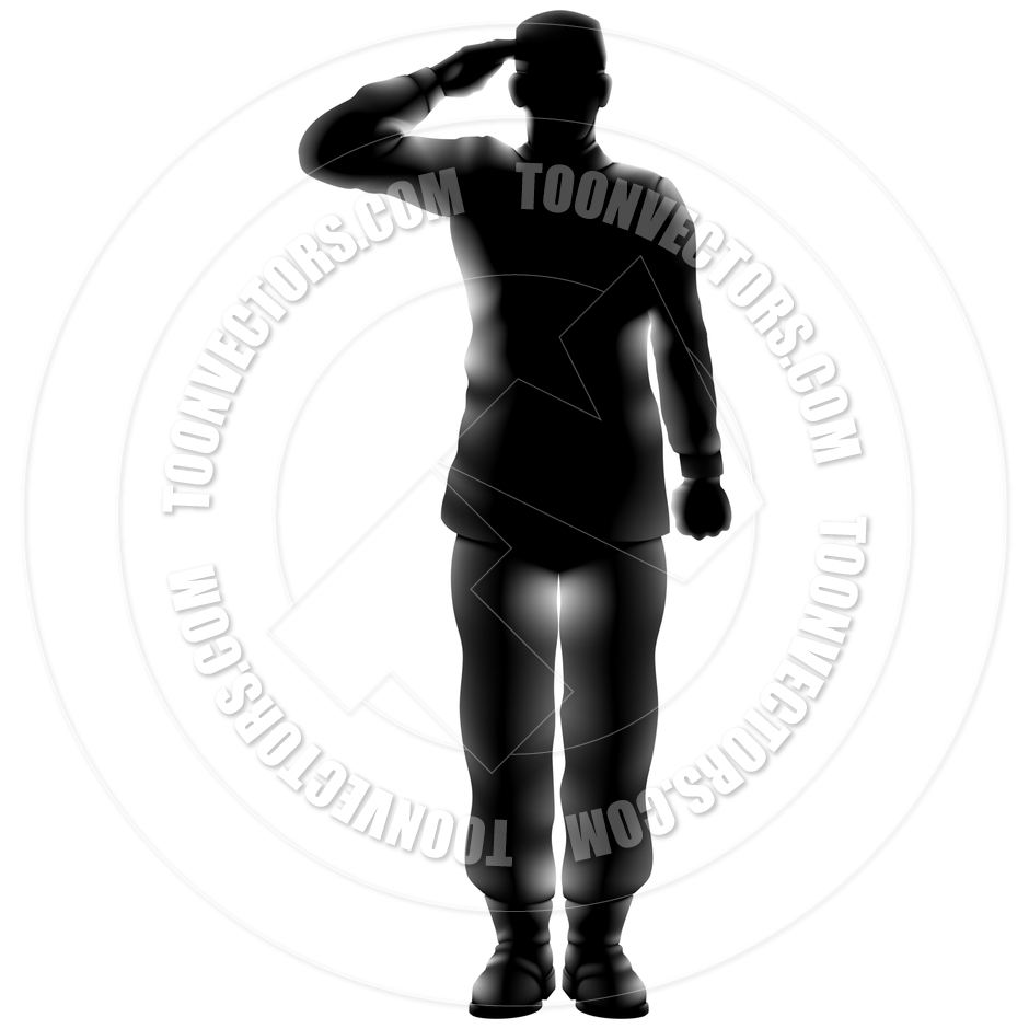 940x940 Silhouette Soldier Soluting Clipart