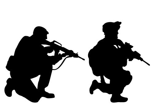 500x350 Silhouette Clipart Military