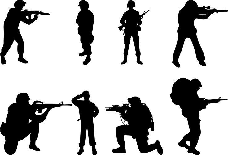 736x502 Soldier Silhouette Clip Art