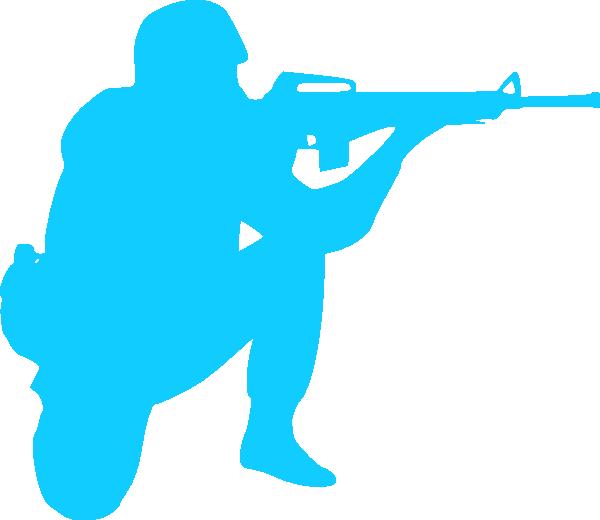 600x520 Blue Soldier Clip Art