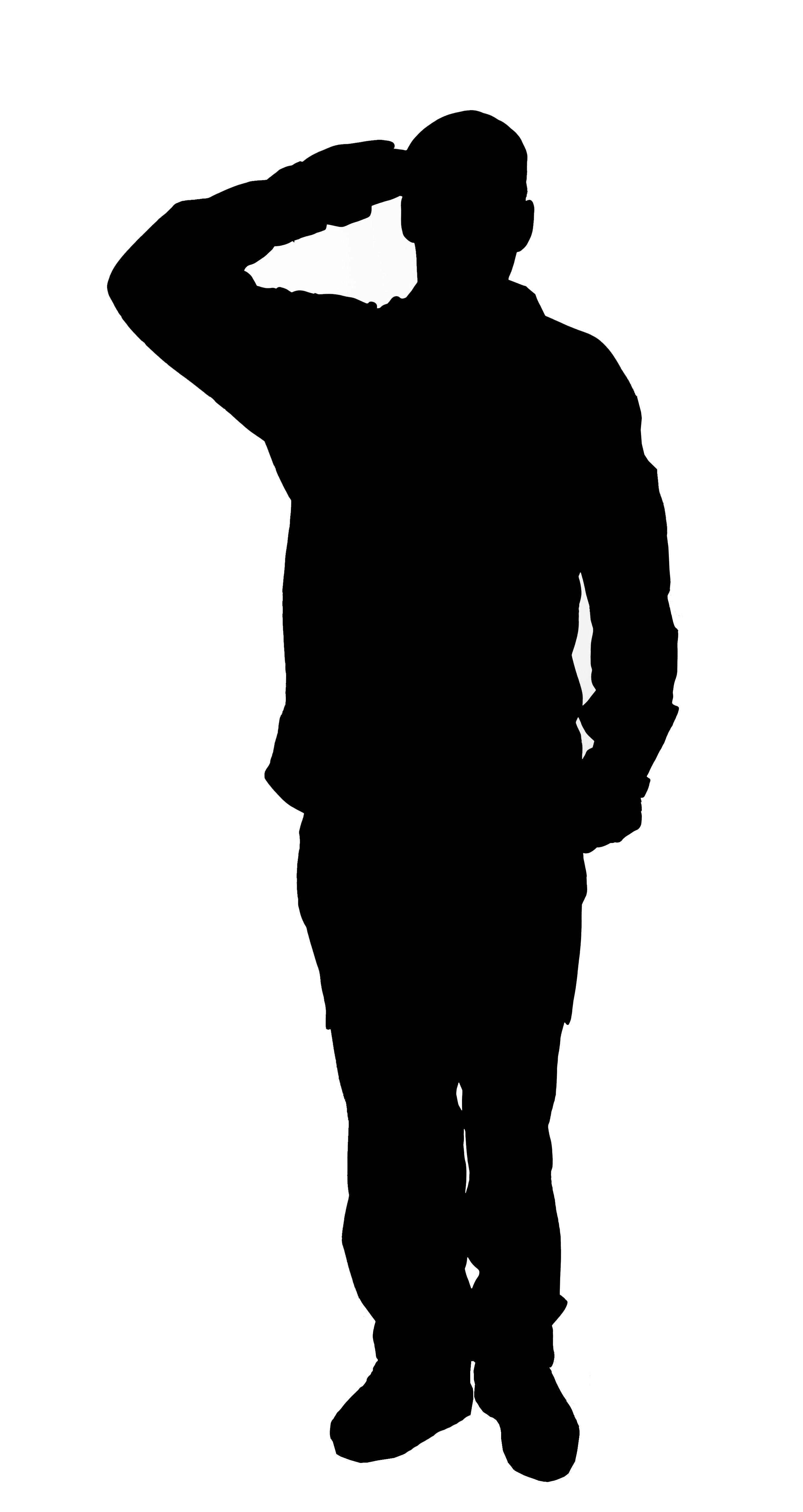 2652x4992 Military Clipart Silhouette