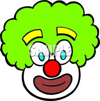 345x350 Royalty Free Clip Art Image Clown Face