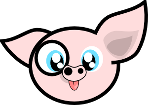 300x213 Free Pig Clip Art That Really Flies