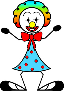 210x300 Clown Cartoon Clipart Image