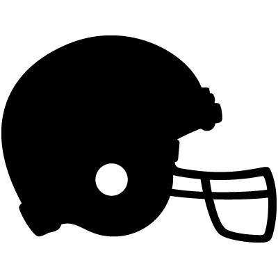 Silver Football Helmets