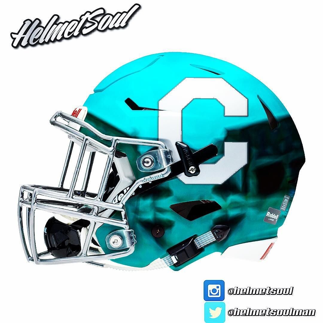 1080x1080 Citadel Chromed Out. Silver C On A Baby Blue Helmet.