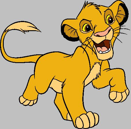 Simba The King Lion Clipart