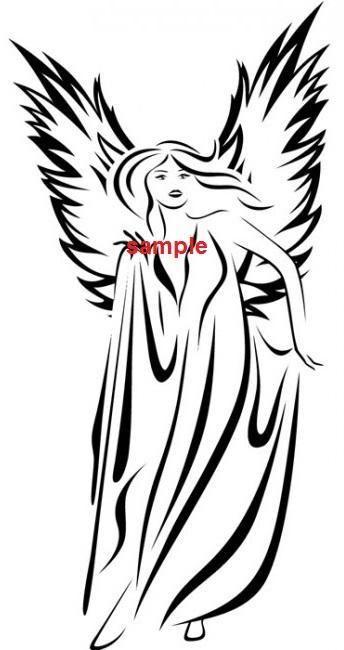 Simple Angel Wing Drawings