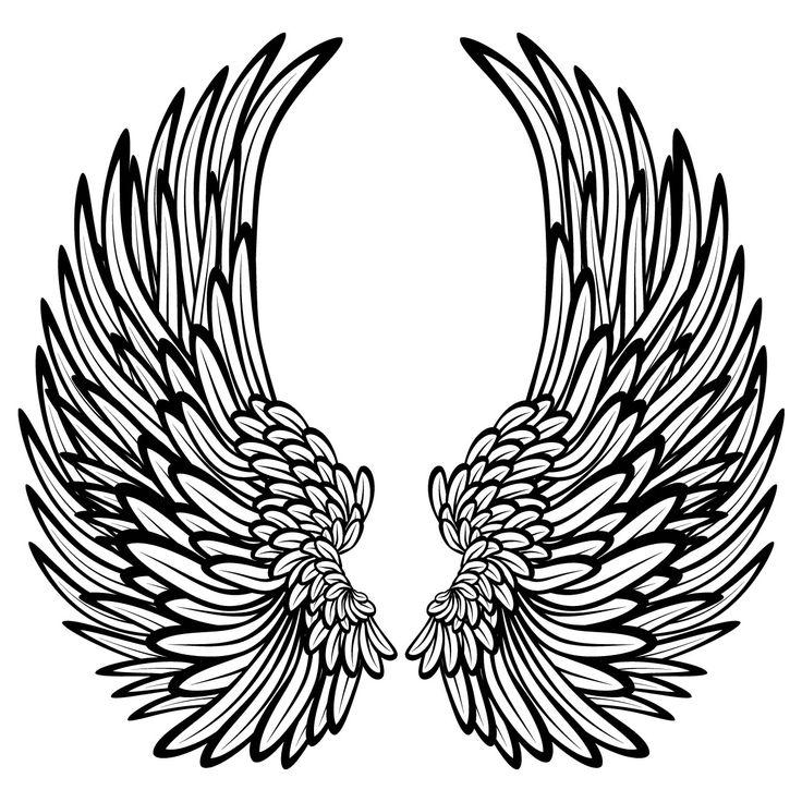 736x736 Dark Angel Clipart Simple Wing