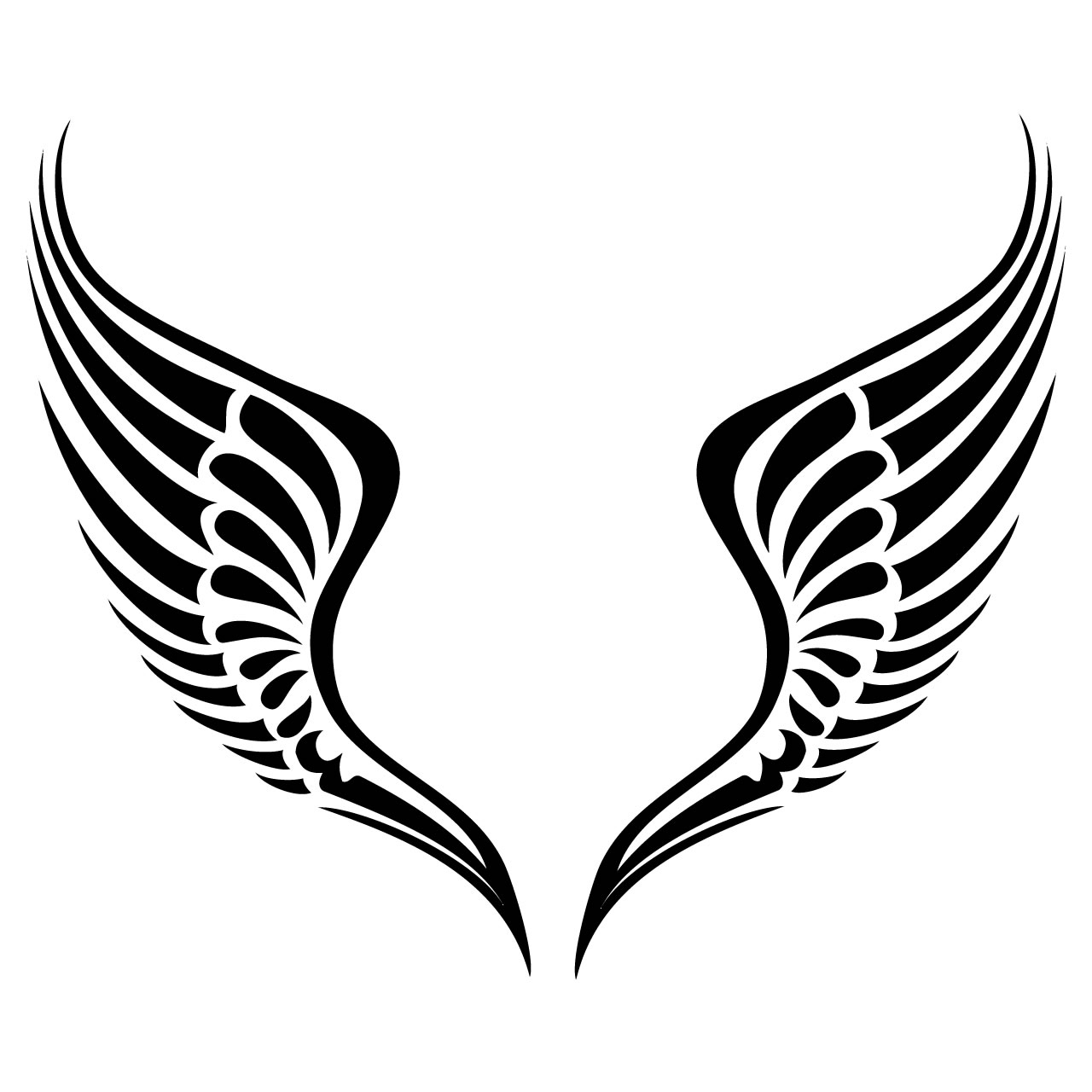1280x1280 Easy To Draw Angel Wings Simple Angel Wings Drawing
