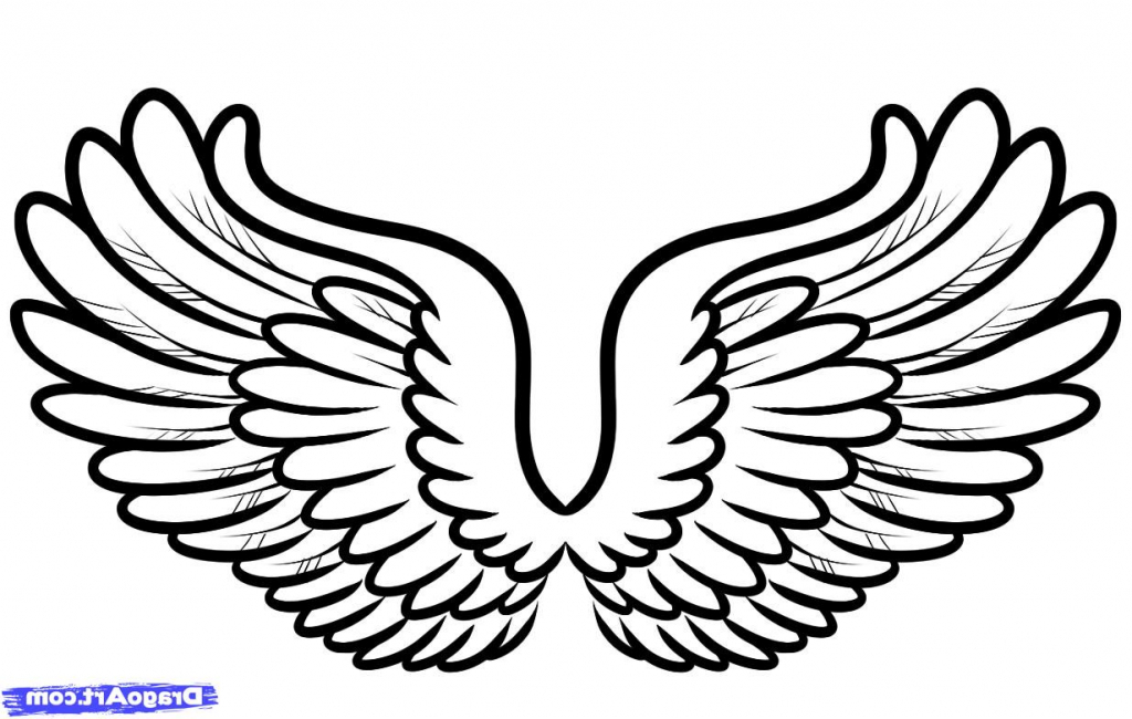 1024x650 Simple Angel Wings Drawing How To Draw Angel Wings In Simple Steps