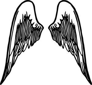300x277 The Best Angel Wings Clip Art Ideas Wings Logo