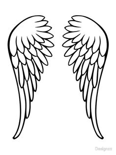 236x314 Angel Wings Pattern. Use The Printable Outline For Crafts