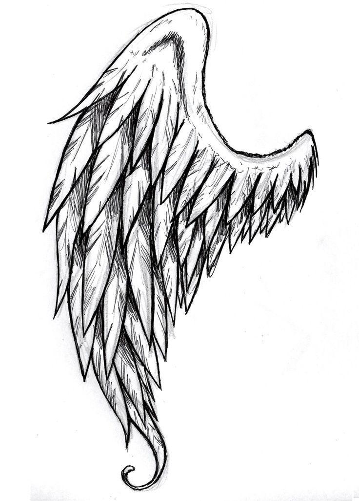 736x1025 Best Angel Wings Drawing Ideas Wings Drawing
