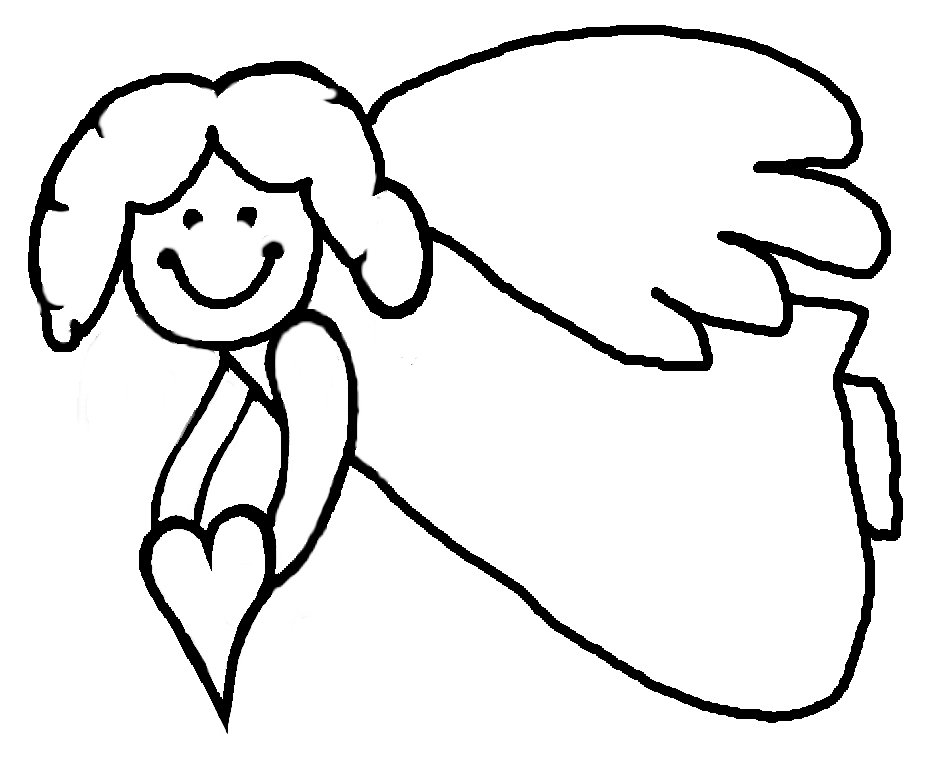 925x759 Drawn Angel Outline Drawing