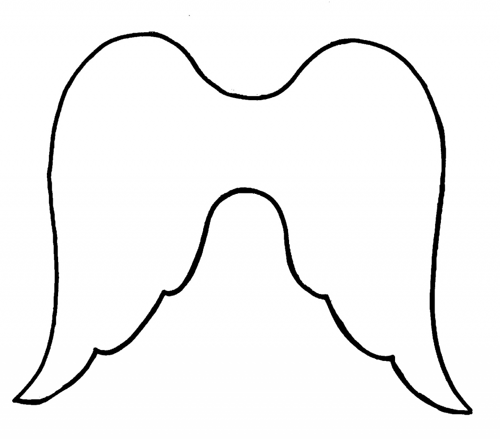 1024x899 Easy To Draw Angel Wings